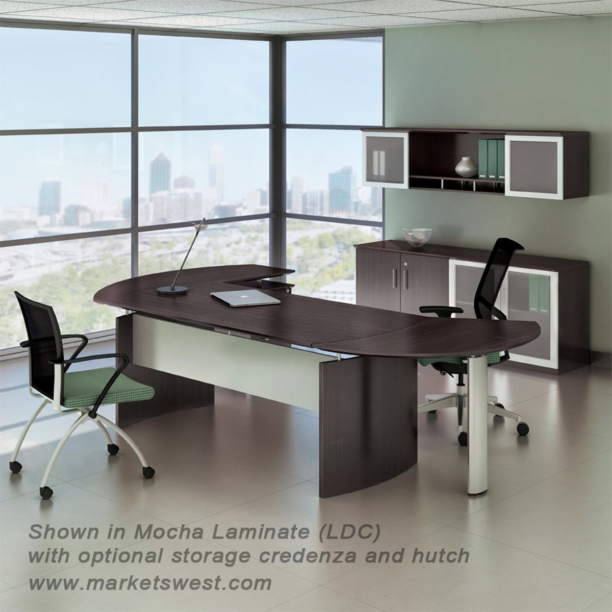 Executive L Shaped Desk Medina Series 72