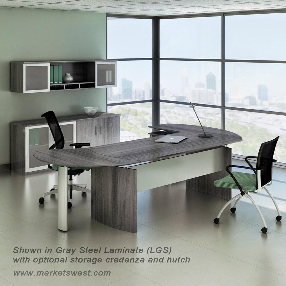 Executive L Shaped Desk Medina Series 63
