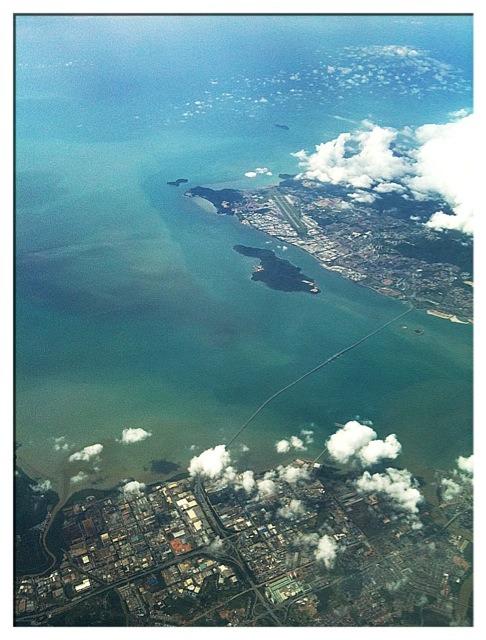 Penang Bridge, Penang from the sky