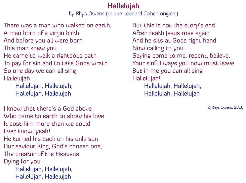 hallelujah christmas lyrics leonard cohen