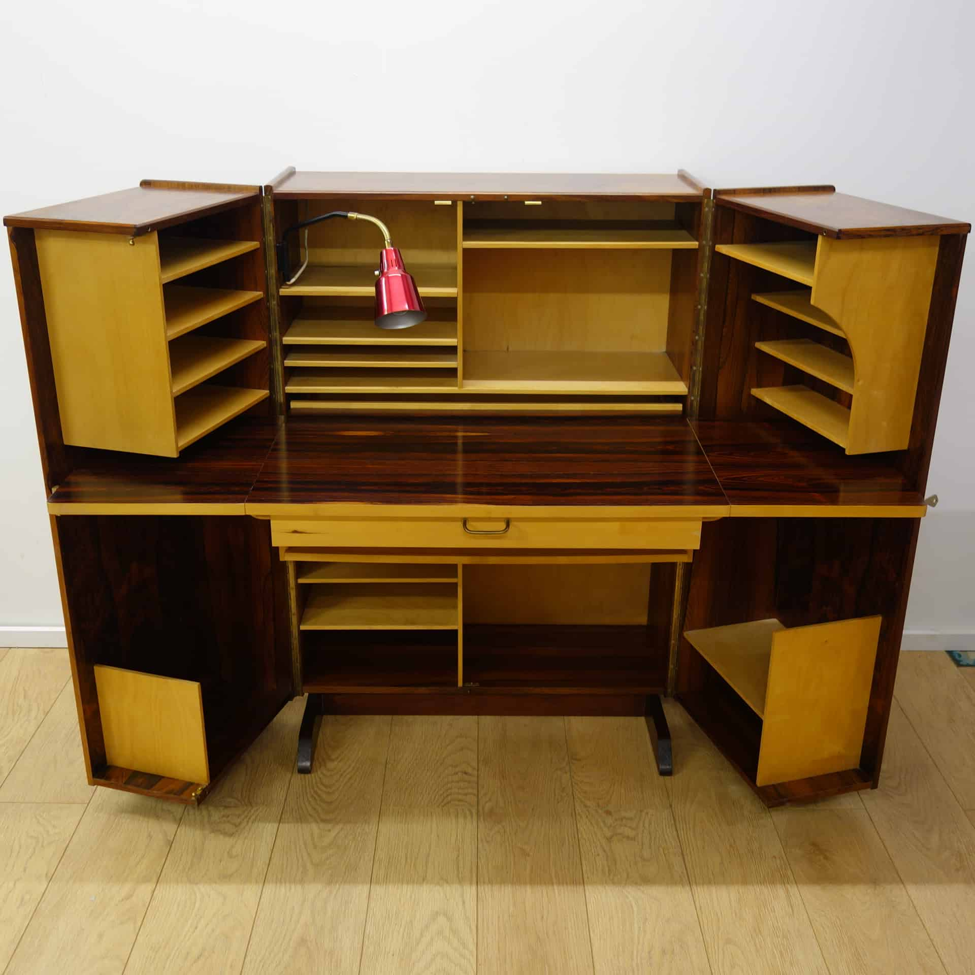 Fold Out Desk Rosewood Magic Box Desk By Pfieffer Norway Mark Parrish