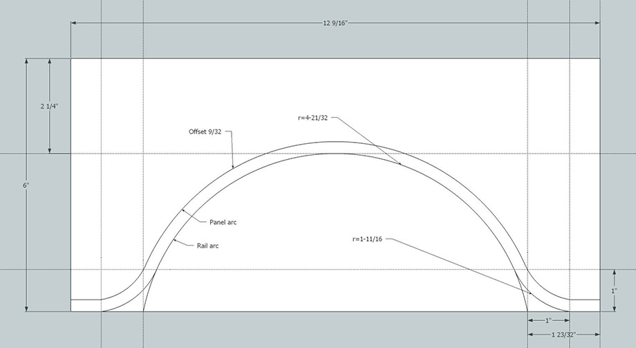 Making Cathedral Arch Templates for Cabinet Doors Using SketchUp - arc templates