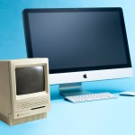 "Apple Macintosh SE30 9"" Mono Screen and Modern Apple Mac"