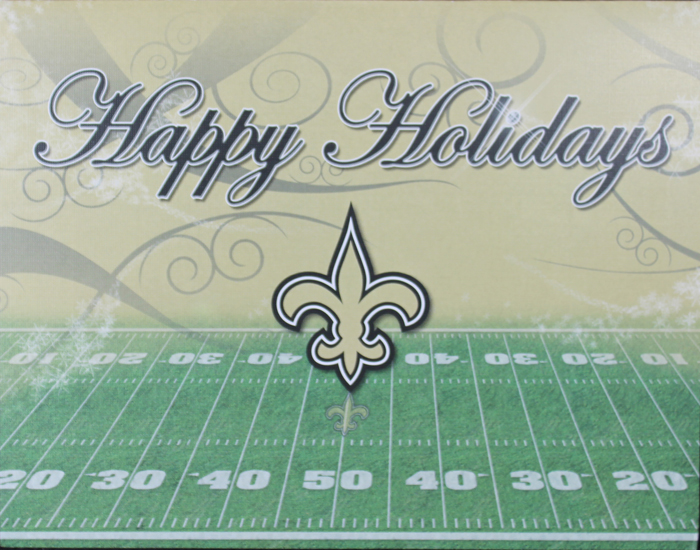 Wholesale Western Jewelry Supplies Xcdsnt 7 New Orleans Saints Boxed Christmas Cards
