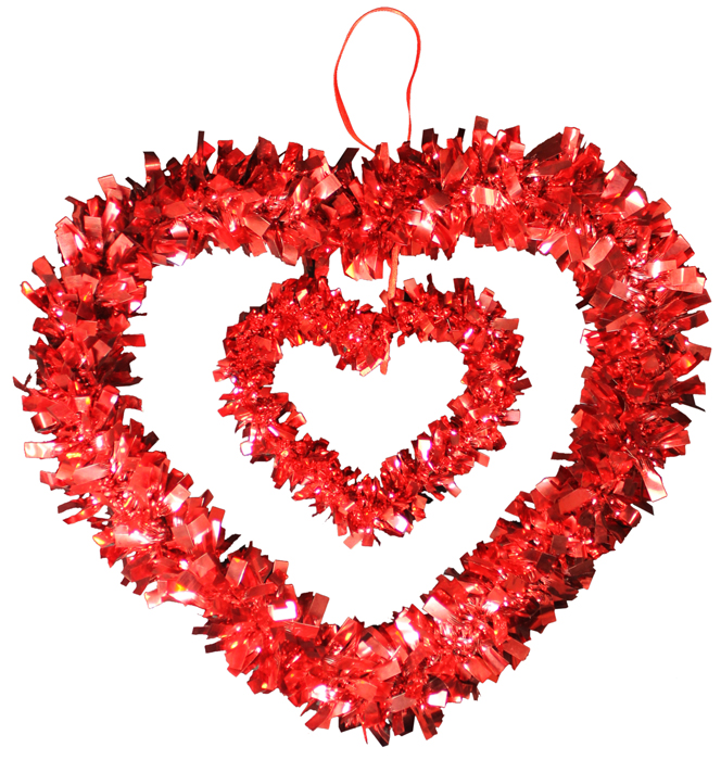 Wholesale Western Jewelry Supplies G87047n Tinsel Hanging Heart Decor