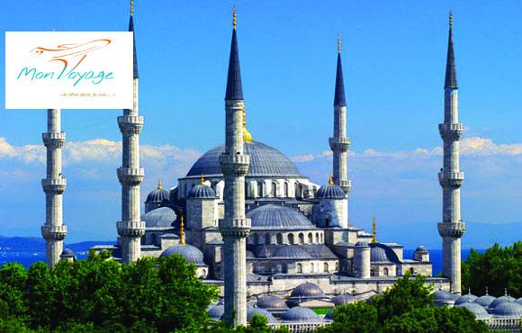 Istanbul 8J/7N: Laissez vous charmer par la célèbre capitale turque et économisez 50% du prix chez Mon Voyage!