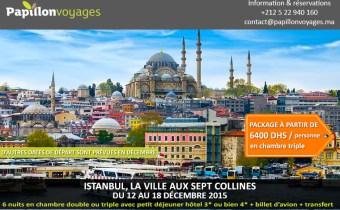 ISTANBUL EN DECEMBRE…UN HIVER TOUT EN MAGIE!!