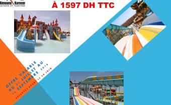 Aqua park à Marrakech en All Inclusive à 1597 DH TTC
