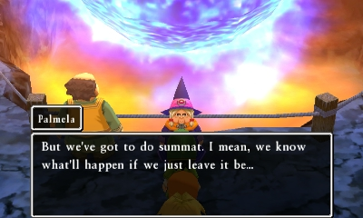 The language used in Dragon Quest VII plays with dialect and Old English words.