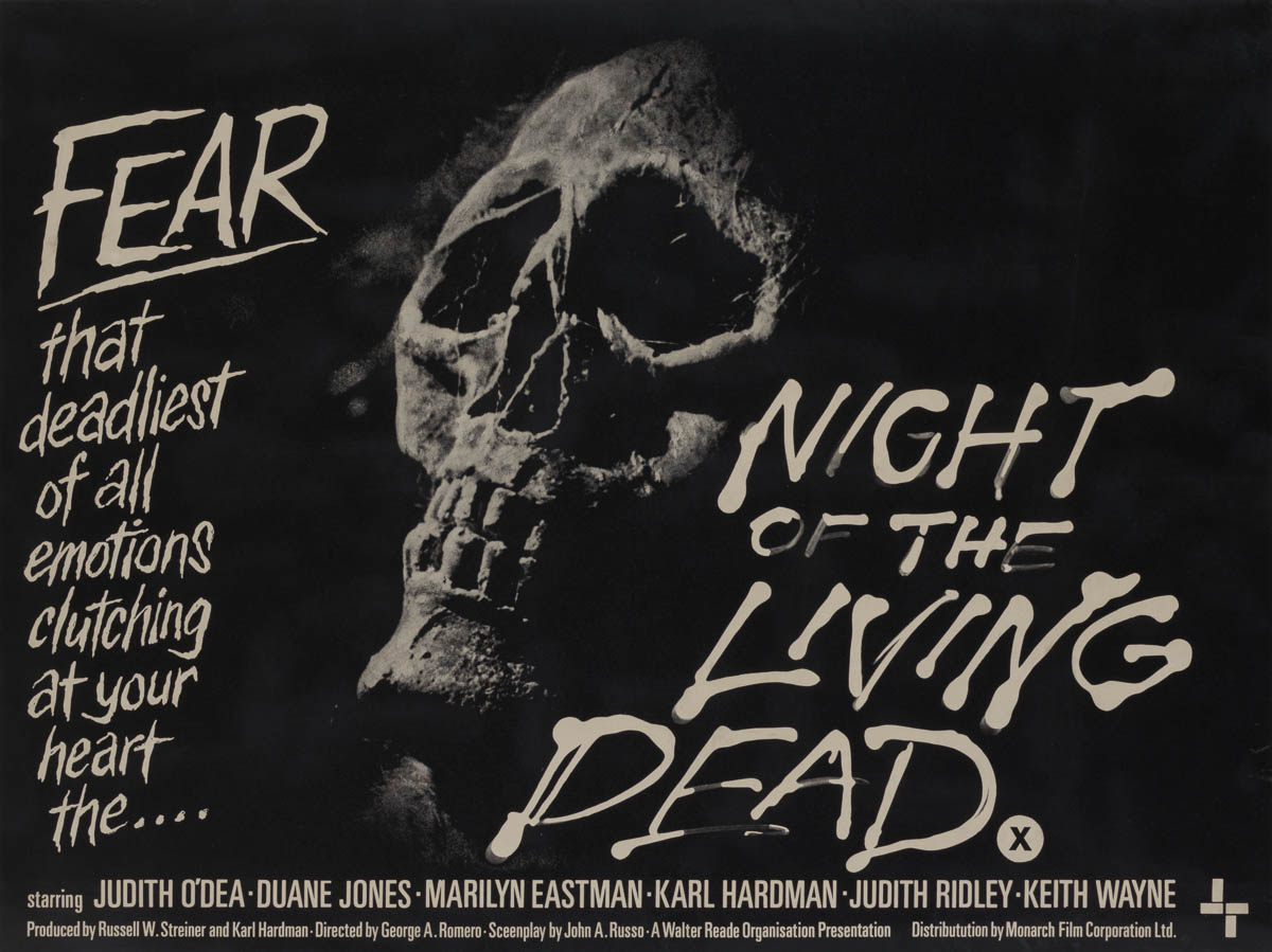 Night Of The Living Dead Farmhouse Marquee Poster Night Of The Living Dead 1968 Uk Quad