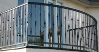 Balcony & Stair Railings - Decorative Wrought Iron Orange ...