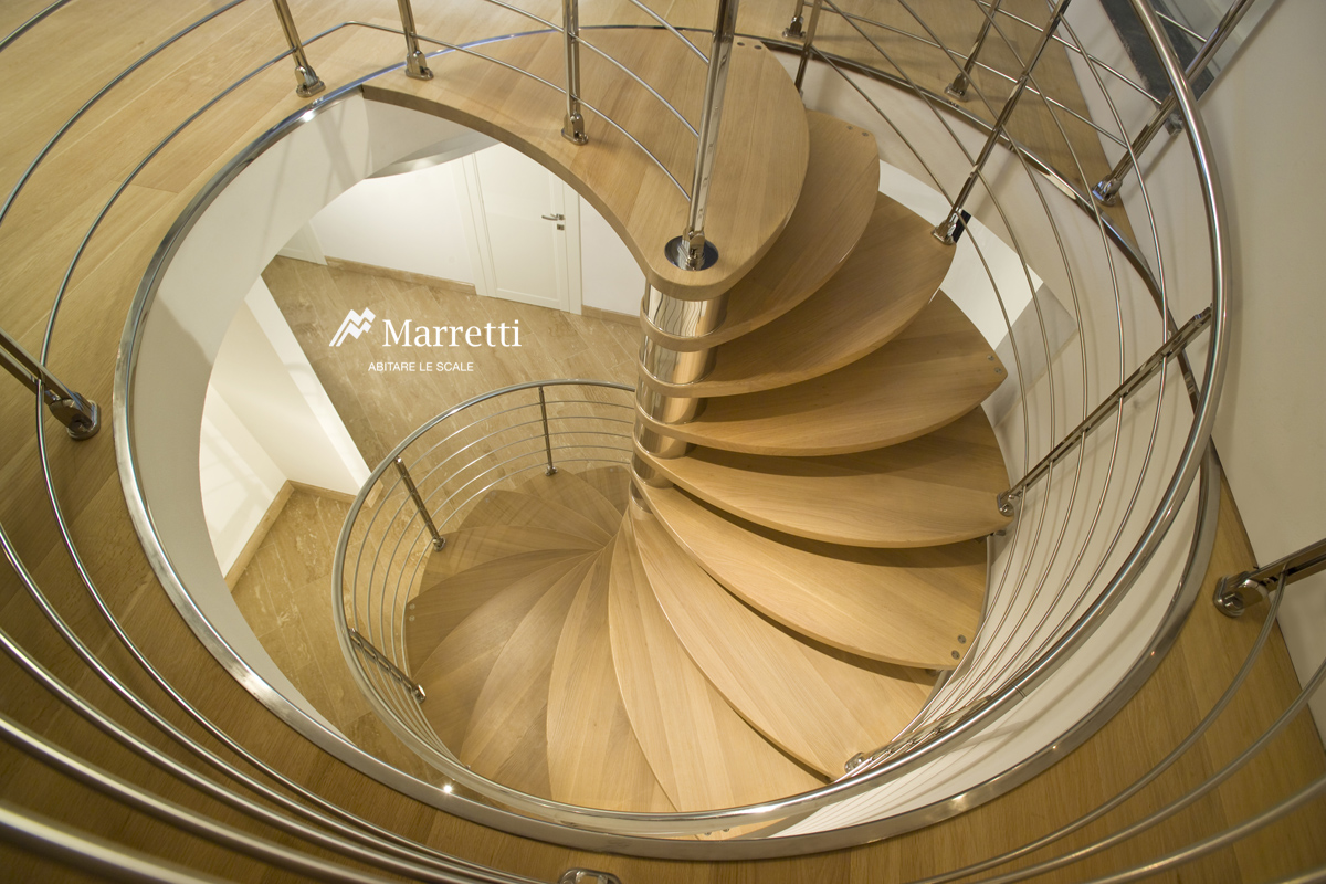 Scale A Chiocciola In Legno Steel And Wood Spiral Staircase Marretti Spiral Stairs