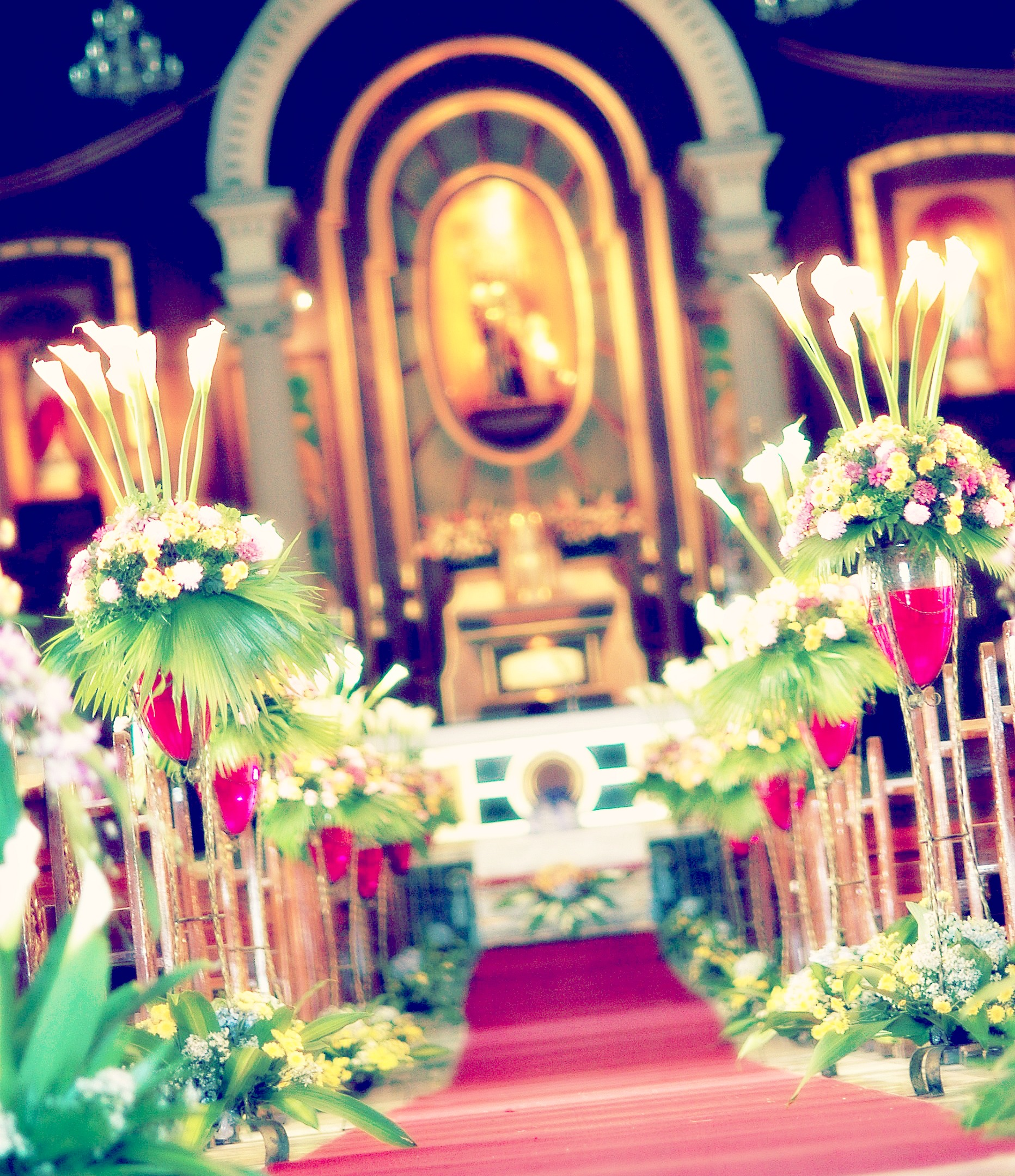 wedding aisle wedding aisle decorations This is the gorgeous looong aisle that I walked during my wedding day This is the beautiful vintage church of The National Shrine of St Joseph in Mandaue