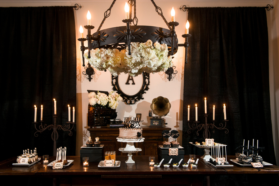 Halloween Addams Family Inspired Engagement Party