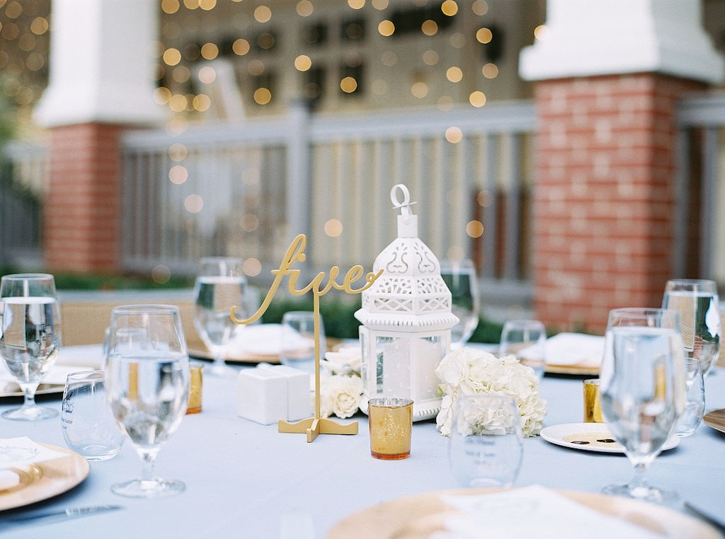 Garden Inspired Wedding Reception Decor, Round Tables with Dusty