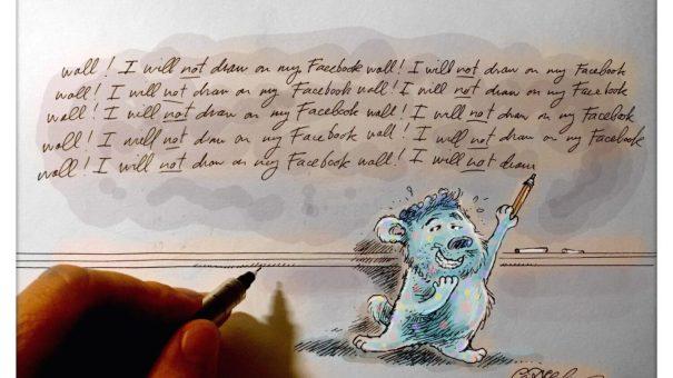 Illustrator Ian Marsden on Facebook