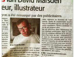 midilibre article sur ian david marsden illustrateur, dessinateur