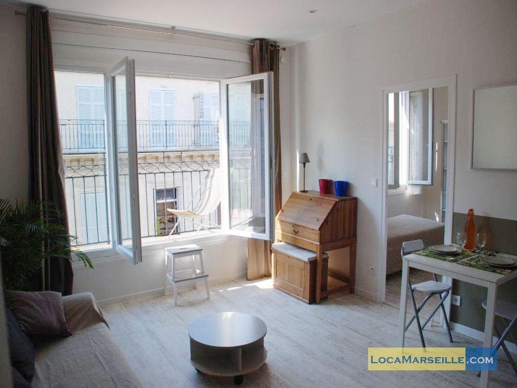 Balcon Design Furnished One Bedroom Rental Marseille Prefecture Préfecture 6