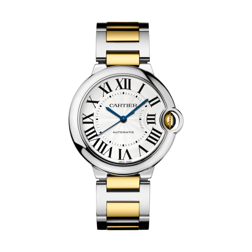 Cartier Watches Ballon Bleu De Cartier In Steel Yellow Gold 36mm Ladies Watch W2bb0012