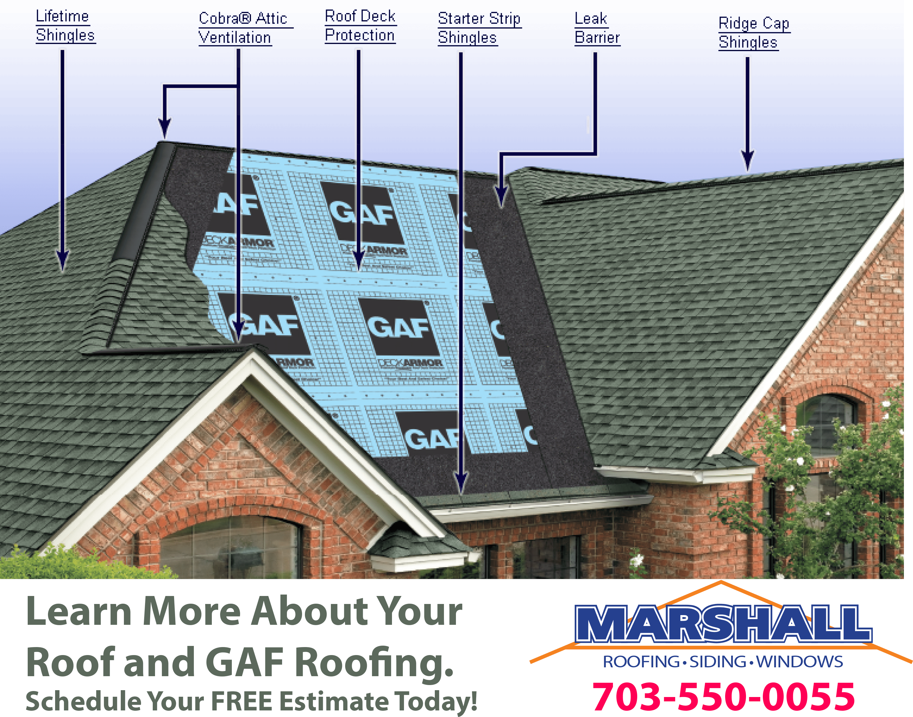 Gaf Roofing Northern Virginia Top Rated Roofing Siding Window Contractor