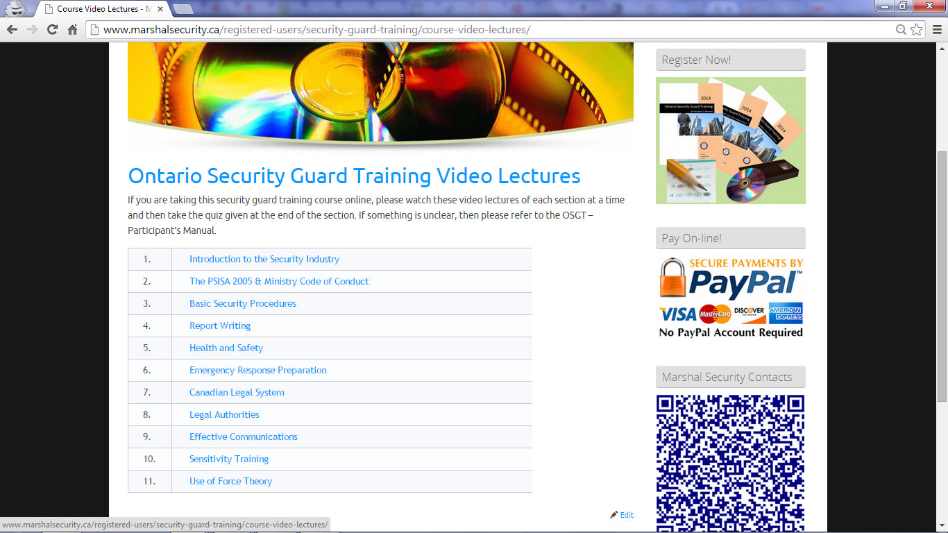 1425 Dundas Street East 3 Video Lectures Marshal Security