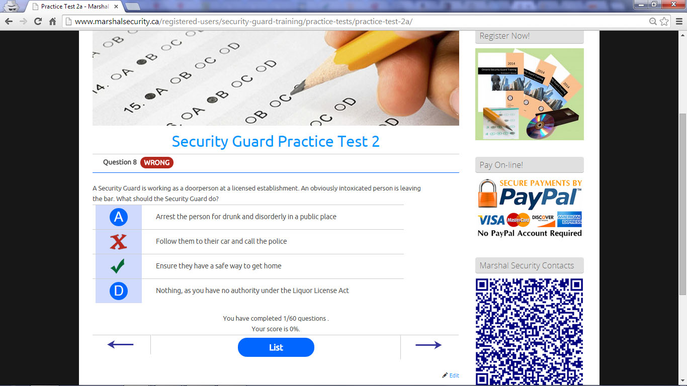 1425 Dundas Street East 7 Practice Tests 2 Marshal Security