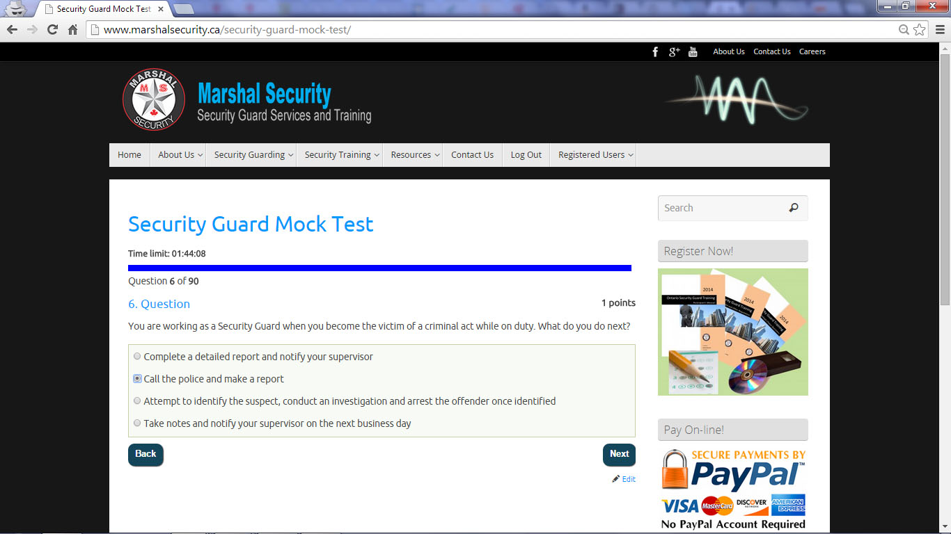1425 Dundas Street East 7 Practice Tests 3 Marshal Security