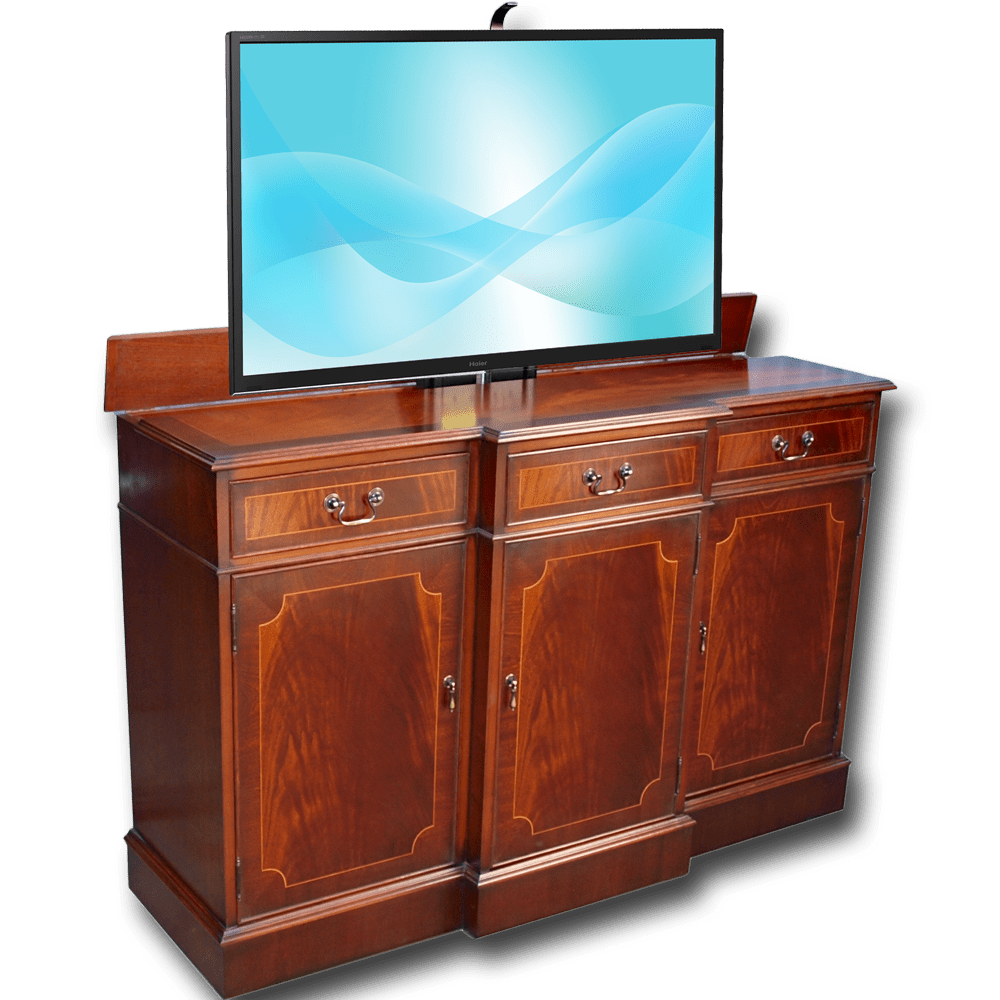 Breakfront Sideboard With Tv Lift - Tv Sideboard