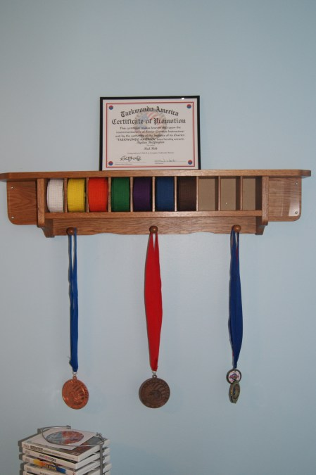 Taekwondo Belts Display Rack