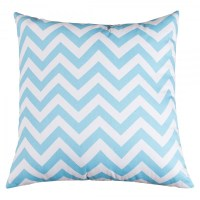 Tiffany Blue Chevron Large Pillow - Indoor - Furniture ...