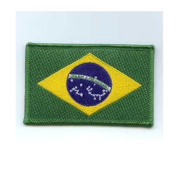 Brazilian Flag Patch - Green Boarder - Academy Of Karate - Martial