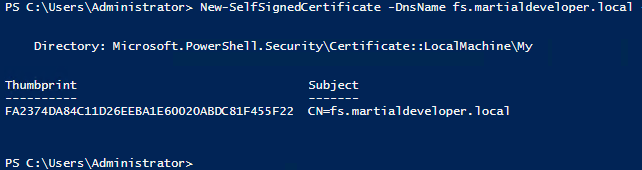 create new cert