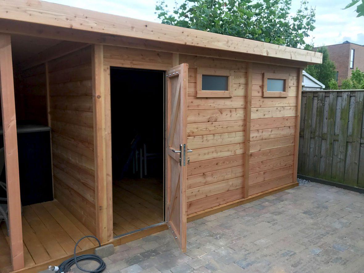 Veranda Met Schuur : Schuur veranda houtbouw op maat douglas schuur met veranda