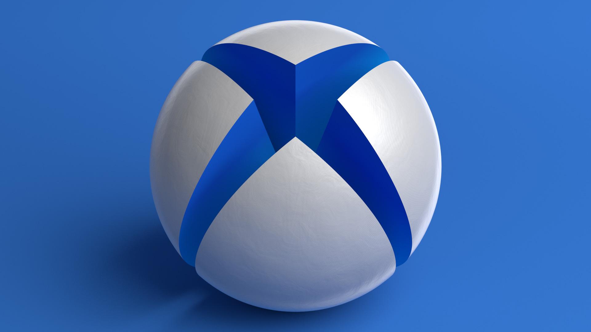 Neon Wallpaper Hd 3d X1bg Giant Xbox Sphere Blue Martin Crownover