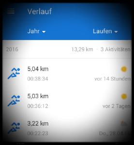 Laufresultate 2016