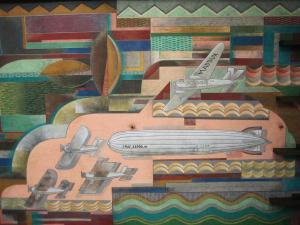 """Bullocks Wilshire """"Spirit of Transportation"""" mural"""