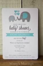 Printable Baby Shower Invitations Elephant Me