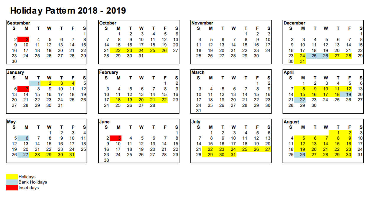 School Hoildays Term Dates