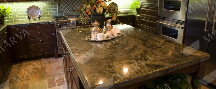 Travertine Countertops Bordeaux River - Granite Designs - Marva Marble And Granite
