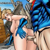 All that Power girl needs after big brawl with another one supervillain is a super fuck