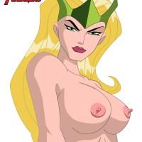 Amora the Enchantress shows her pretty boobs