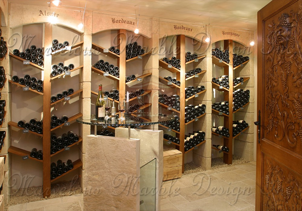 French Limestone Wine Cellar Marvelous Marble Design - Idee Deco Cave A Vin