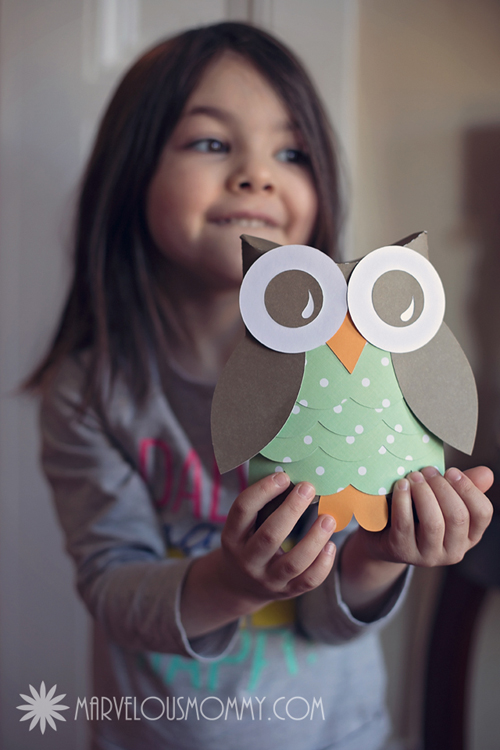DIY Owl Pillow Boxes Free Valentine PrintableMarvelous Mommy