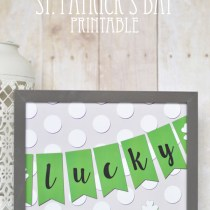 Lucky St Patricks Day Printable