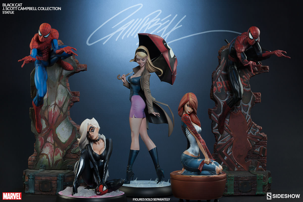 Statue Disney Resina Sideshow Exclusive J Scott Campbell Black Cat Statue Pre