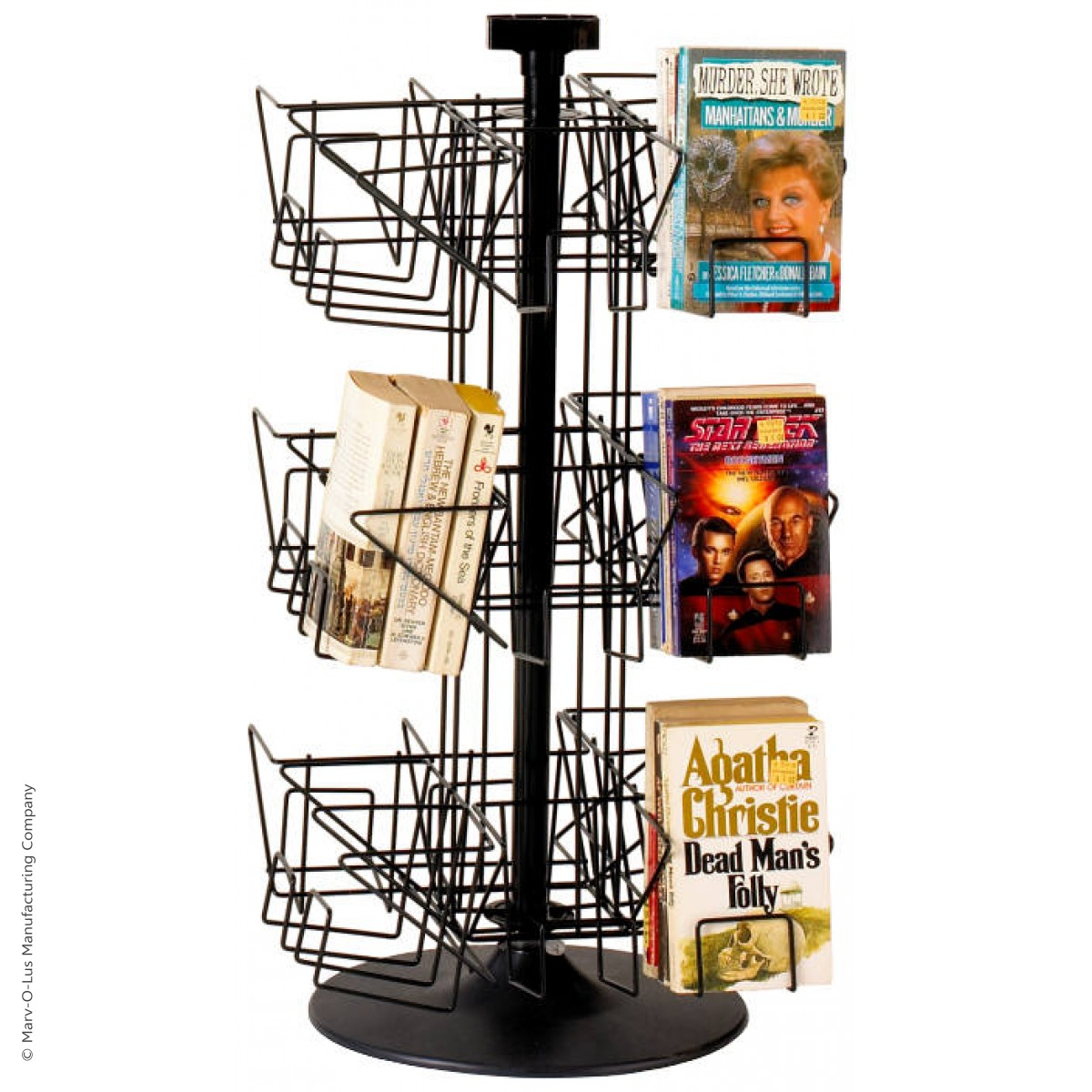Countertop Book Display 24 Pocket Countertop Spinner Rack For Paperback Books