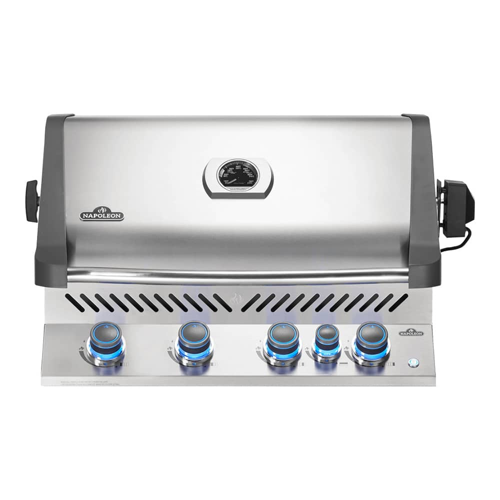 Napoleon Lex485rsib Propane Bbq Napoleon Prestige 500 4 Burner Built In Gas Grill With Infrared Rear Burner