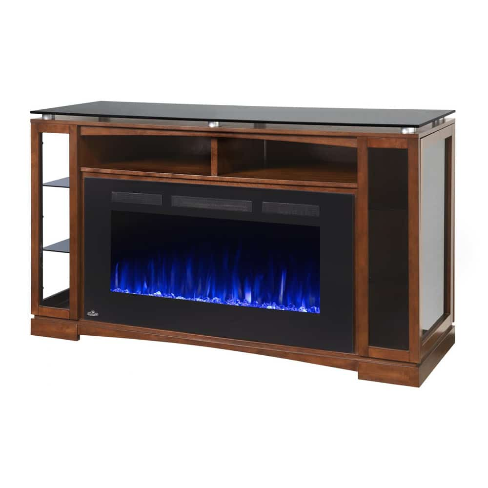 Napoleon Gas Fireplaces Napoleon Shelton 60 Inch Electric Fireplace Media Console With Allure Phantom Firebox