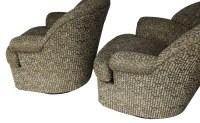 Gorgeous Pair Mid Century Modern swivel lounge chairs ...