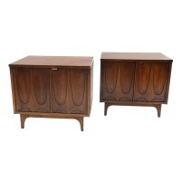 Mid-Century Broyhill Brasilia Night Stands Pair